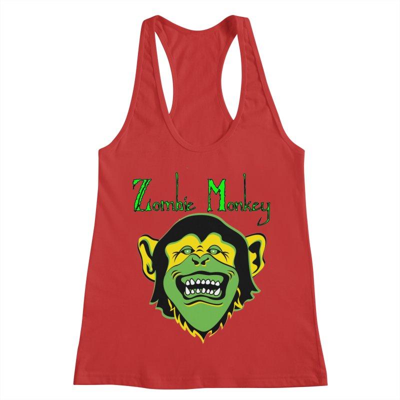 Zombie Monkey Women's Racerback Tank by DesignsbyAnvilJames's Artist Shop