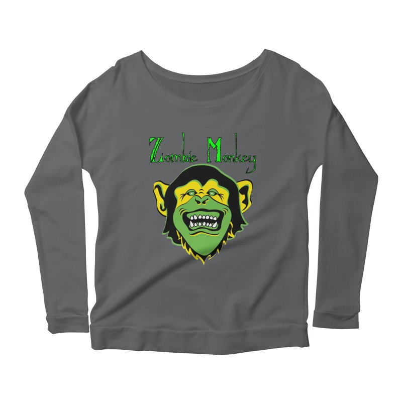 Zombie Monkey Women's Scoop Neck Longsleeve T-Shirt by DesignsbyAnvilJames's Artist Shop