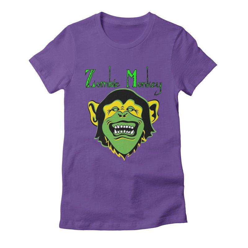 Zombie Monkey Women's Fitted T-Shirt by DesignsbyAnvilJames's Artist Shop