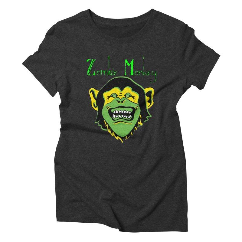 Zombie Monkey Women's Triblend T-Shirt by DesignsbyAnvilJames's Artist Shop