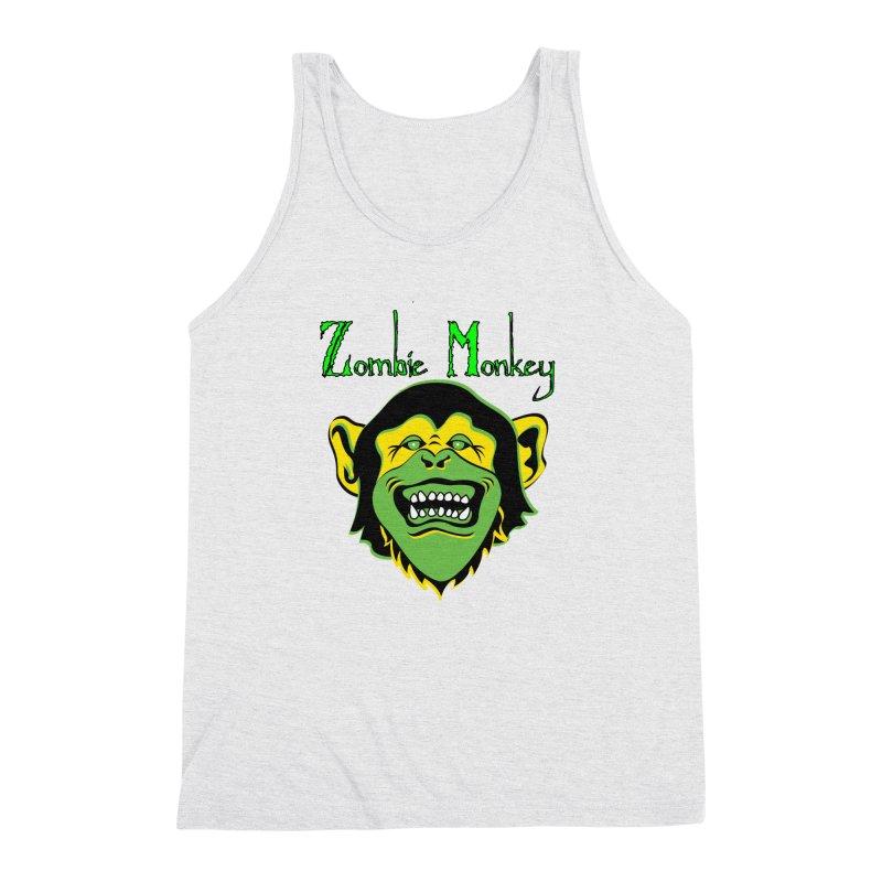 Zombie Monkey Men's Triblend Tank by DesignsbyAnvilJames's Artist Shop