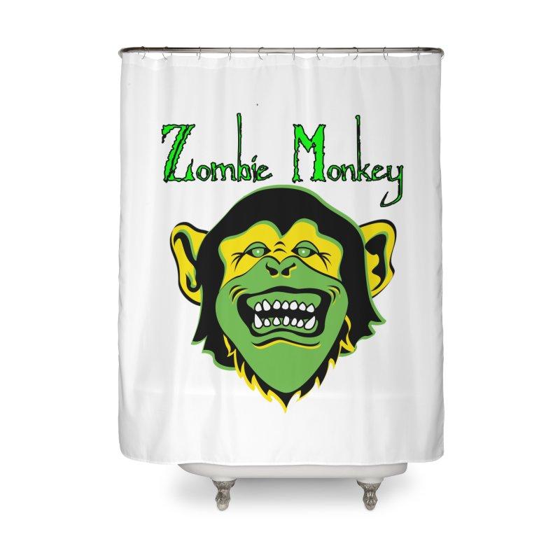 Zombie Monkey Home Shower Curtain by DesignsbyAnvilJames's Artist Shop