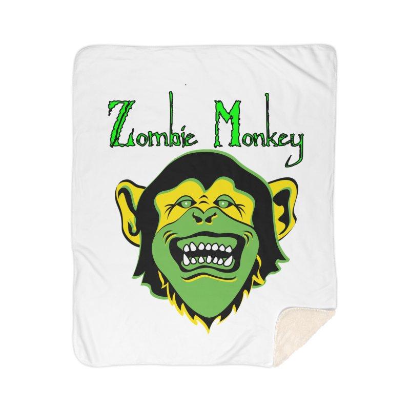 Zombie Monkey Home Sherpa Blanket Blanket by DesignsbyAnvilJames's Artist Shop