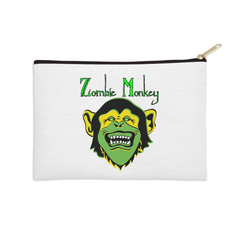 Zombie Monkey Accessories Zip Pouch by DesignsbyAnvilJames's Artist Shop