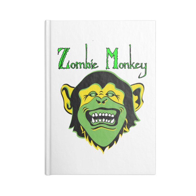 Zombie Monkey Accessories Lined Journal Notebook by DesignsbyAnvilJames's Artist Shop