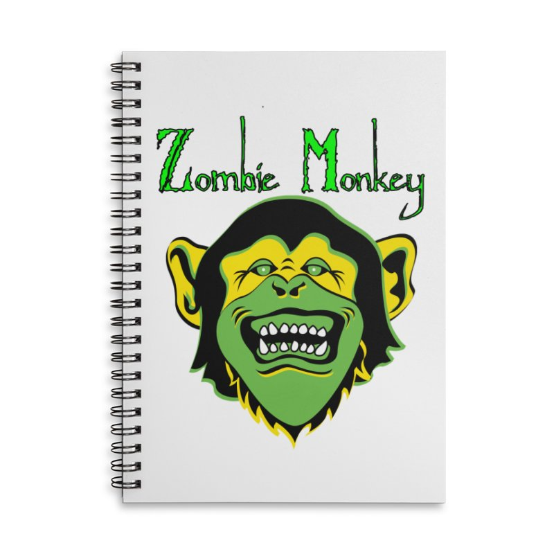 Zombie Monkey Accessories Lined Spiral Notebook by DesignsbyAnvilJames's Artist Shop