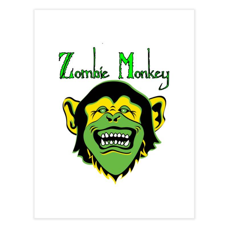 Zombie Monkey Home Fine Art Print by DesignsbyAnvilJames's Artist Shop