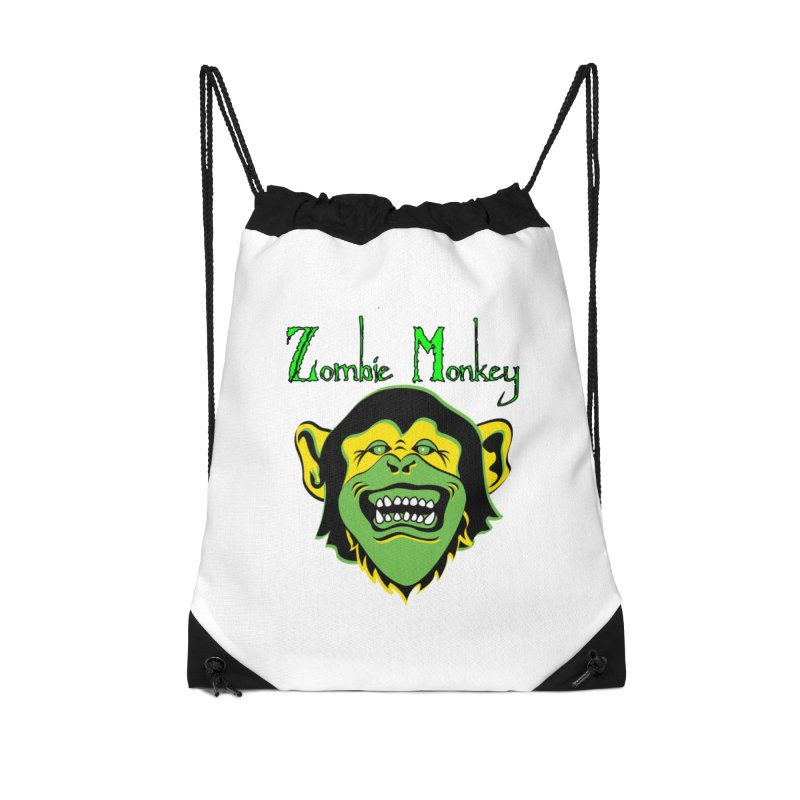 Zombie Monkey Accessories Drawstring Bag Bag by DesignsbyAnvilJames's Artist Shop