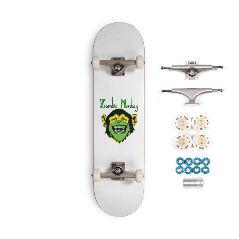 Zombie Monkey Accessories Complete - Premium Skateboard by DesignsbyAnvilJames's Artist Shop