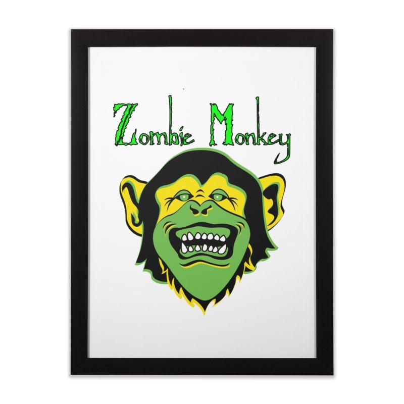 Zombie Monkey Home Framed Fine Art Print by DesignsbyAnvilJames's Artist Shop