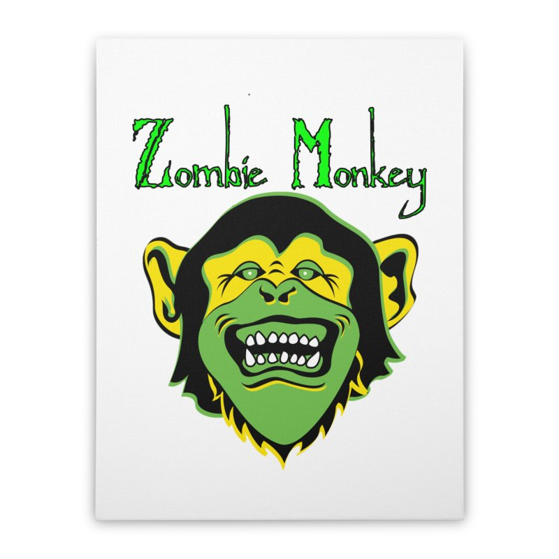 Zombie Monkey Home Stretched Canvas by DesignsbyAnvilJames's Artist Shop