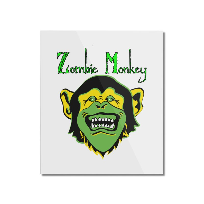 Zombie Monkey Home Mounted Acrylic Print by DesignsbyAnvilJames's Artist Shop
