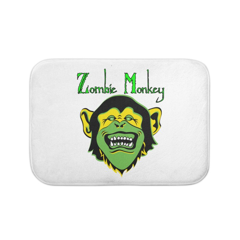 Zombie Monkey Home Bath Mat by DesignsbyAnvilJames's Artist Shop