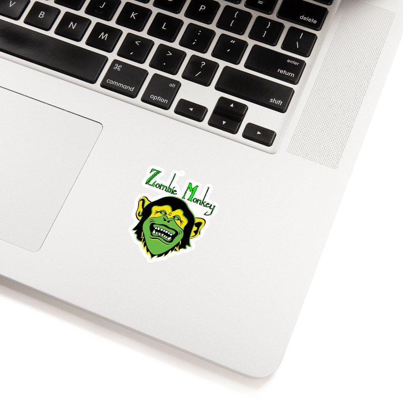 Zombie Monkey Accessories Sticker by DesignsbyAnvilJames's Artist Shop