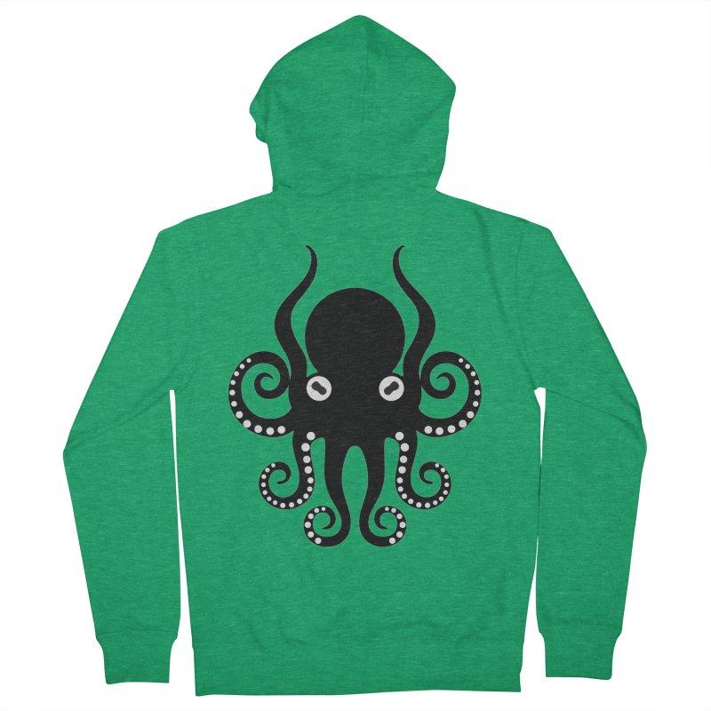 Octopi Men's French Terry Zip-Up Hoody by DesignsbyAnvilJames's Artist Shop