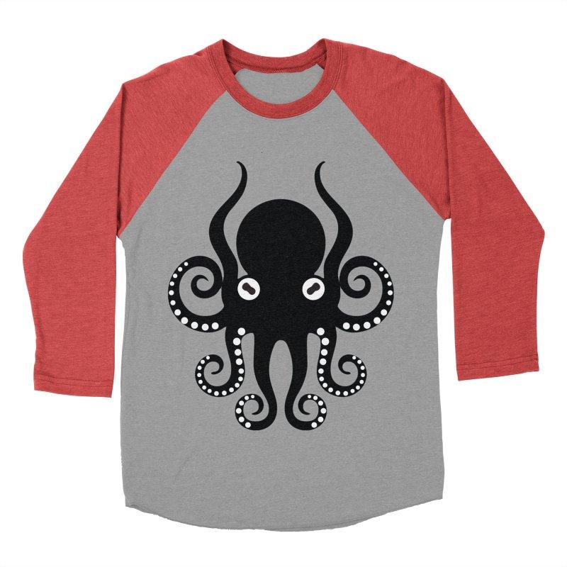 Octopi Women's Baseball Triblend Longsleeve T-Shirt by DesignsbyAnvilJames's Artist Shop