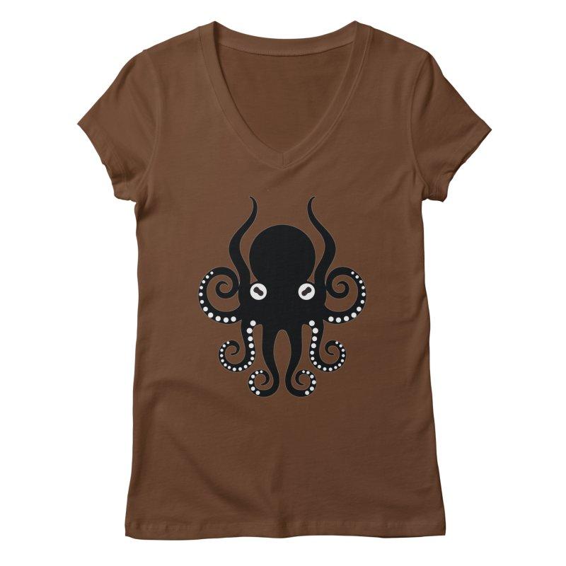 Octopi Women's Regular V-Neck by DesignsbyAnvilJames's Artist Shop