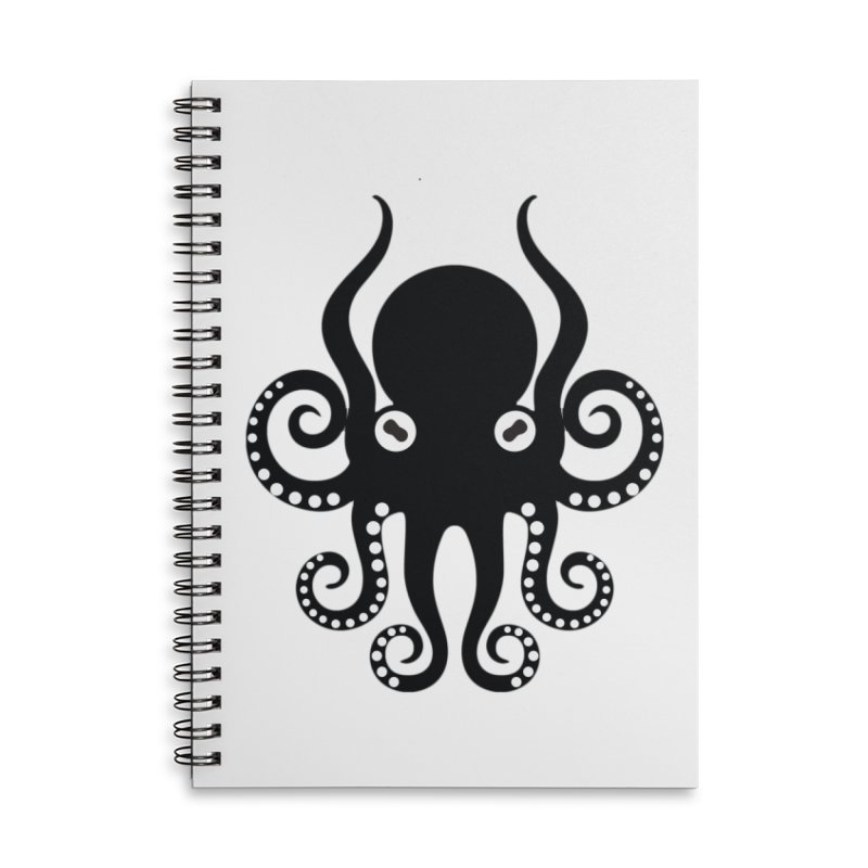Octopi Accessories Lined Spiral Notebook by DesignsbyAnvilJames's Artist Shop