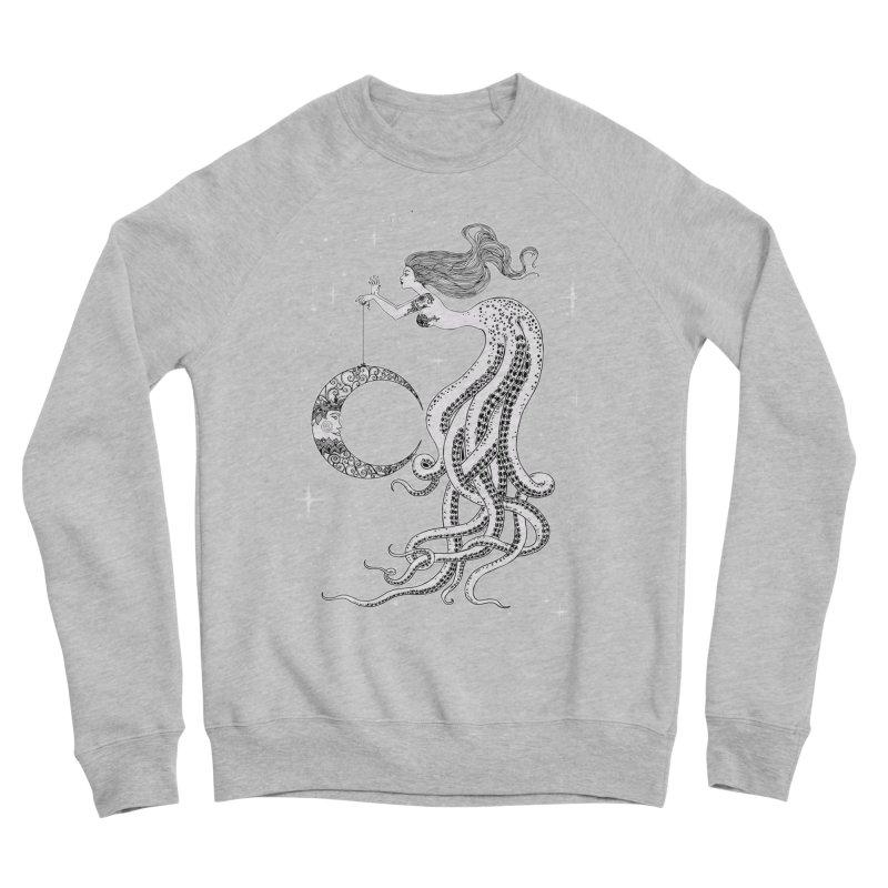 Mermaid Moon Men's Sponge Fleece Sweatshirt by DesignsbyAnvilJames's Artist Shop