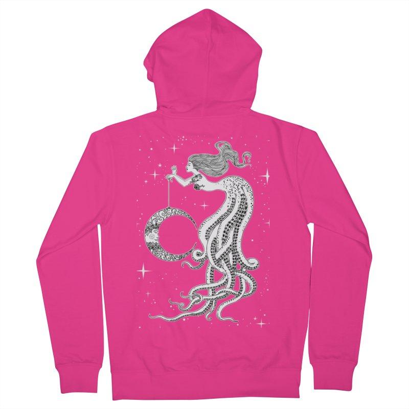 Mermaid Moon Men's Zip-Up Hoody by DesignsbyAnvilJames's Artist Shop