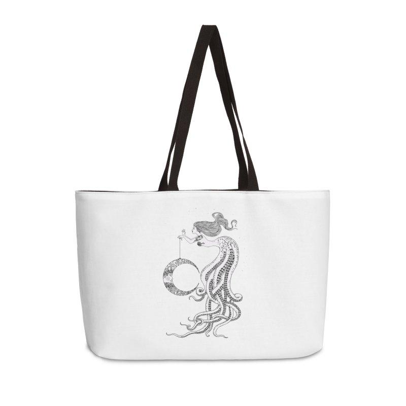 Mermaid Moon Accessories Weekender Bag Bag by DesignsbyAnvilJames's Artist Shop