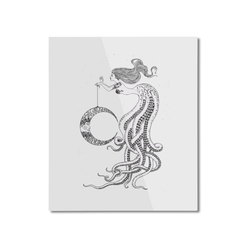 Mermaid Moon Home Mounted Aluminum Print by DesignsbyAnvilJames's Artist Shop