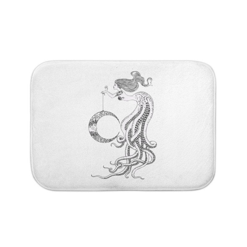 Mermaid Moon Home Bath Mat by DesignsbyAnvilJames's Artist Shop