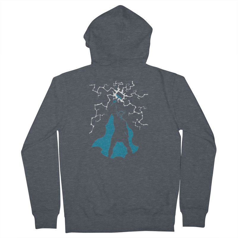 THOR Men's French Terry Zip-Up Hoody by DesignsbyAnvilJames's Artist Shop