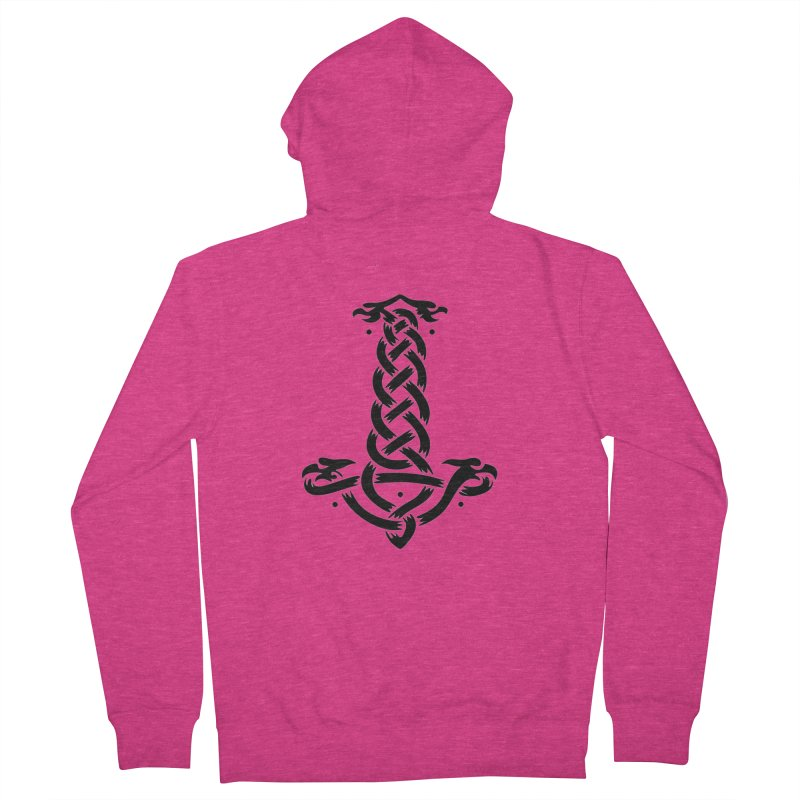 Thor's Hammer Women's French Terry Zip-Up Hoody by DesignsbyAnvilJames's Artist Shop