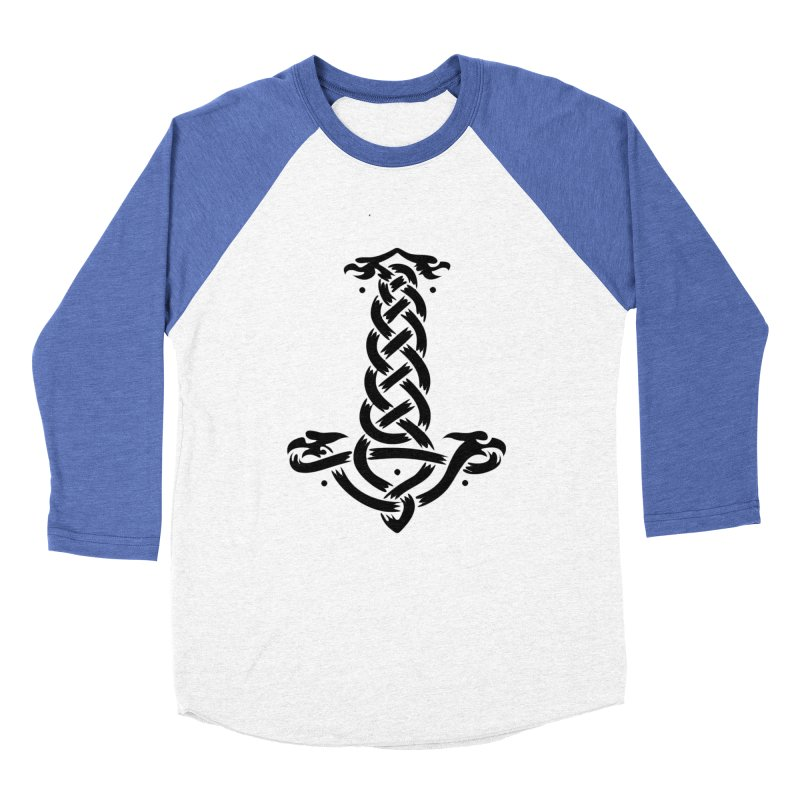 Thor's Hammer Men's Baseball Triblend Longsleeve T-Shirt by DesignsbyAnvilJames's Artist Shop