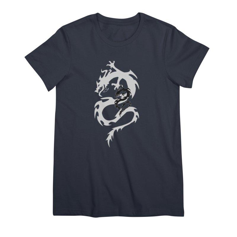 Double Dragon Women's Premium T-Shirt by DesignsbyAnvilJames's Artist Shop