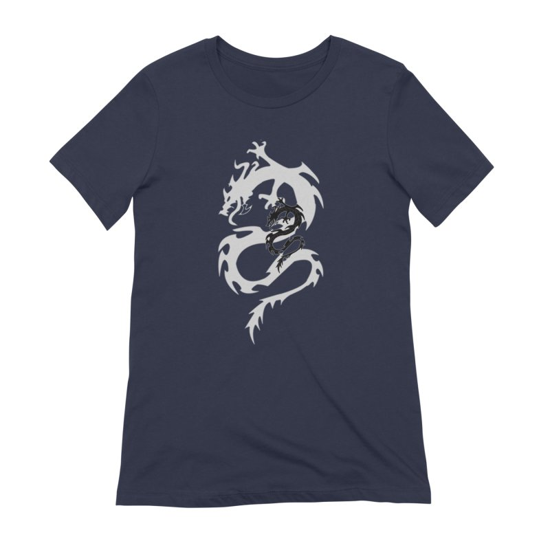 Double Dragon Women's Extra Soft T-Shirt by DesignsbyAnvilJames's Artist Shop