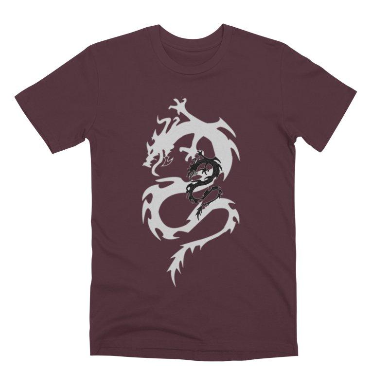 Double Dragon Men's Premium T-Shirt by DesignsbyAnvilJames's Artist Shop