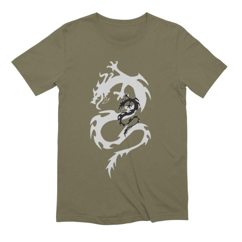 Double Dragon Men's Extra Soft T-Shirt by DesignsbyAnvilJames's Artist Shop