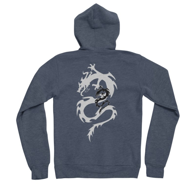 Double Dragon Men's Sponge Fleece Zip-Up Hoody by DesignsbyAnvilJames's Artist Shop