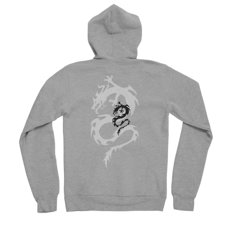 Double Dragon Women's Sponge Fleece Zip-Up Hoody by DesignsbyAnvilJames's Artist Shop