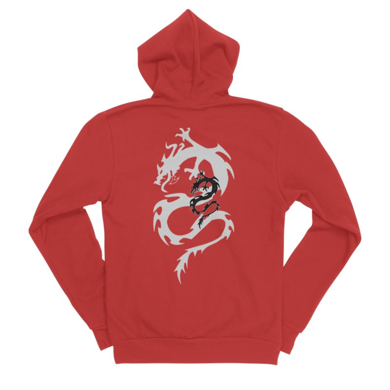Double Dragon Men's Zip-Up Hoody by DesignsbyAnvilJames's Artist Shop