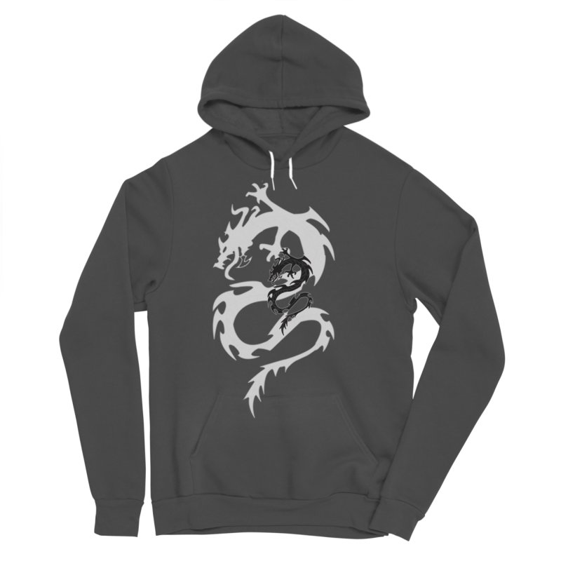 Double Dragon Men's Sponge Fleece Pullover Hoody by DesignsbyAnvilJames's Artist Shop