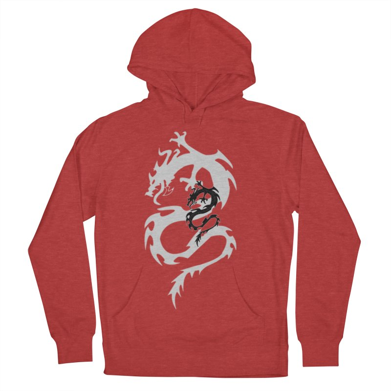 Double Dragon Women's French Terry Pullover Hoody by DesignsbyAnvilJames's Artist Shop