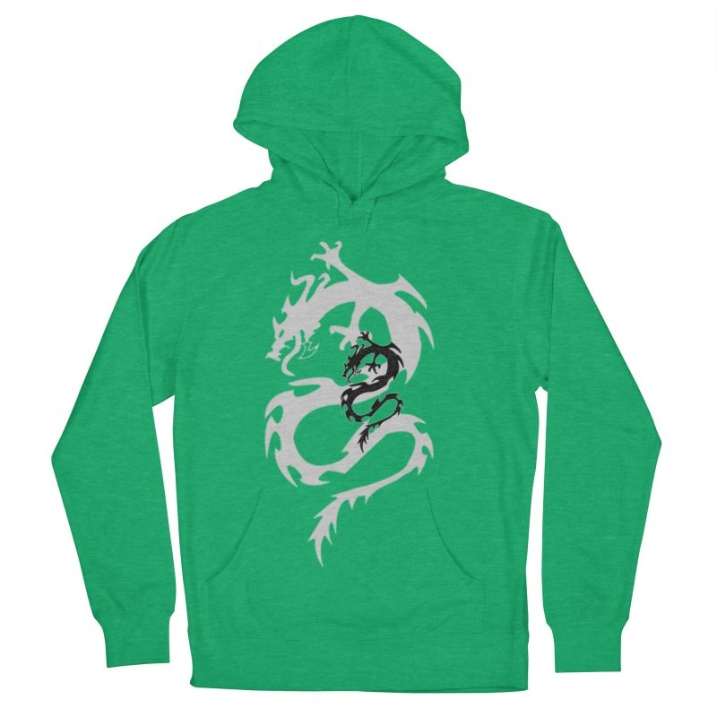 Double Dragon Men's French Terry Pullover Hoody by DesignsbyAnvilJames's Artist Shop