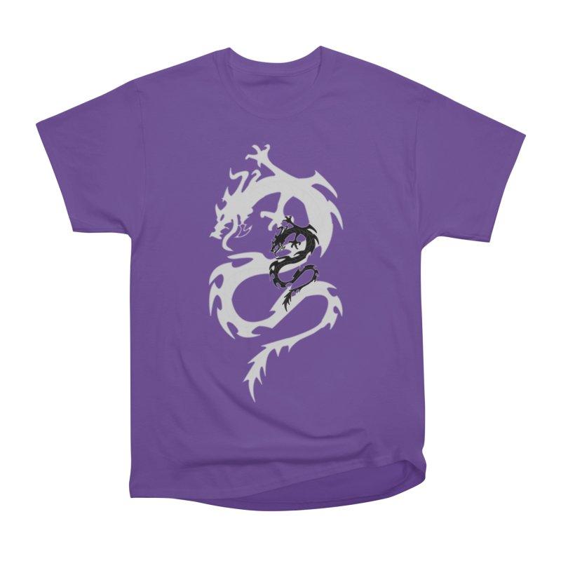 Double Dragon Men's Heavyweight T-Shirt by DesignsbyAnvilJames's Artist Shop