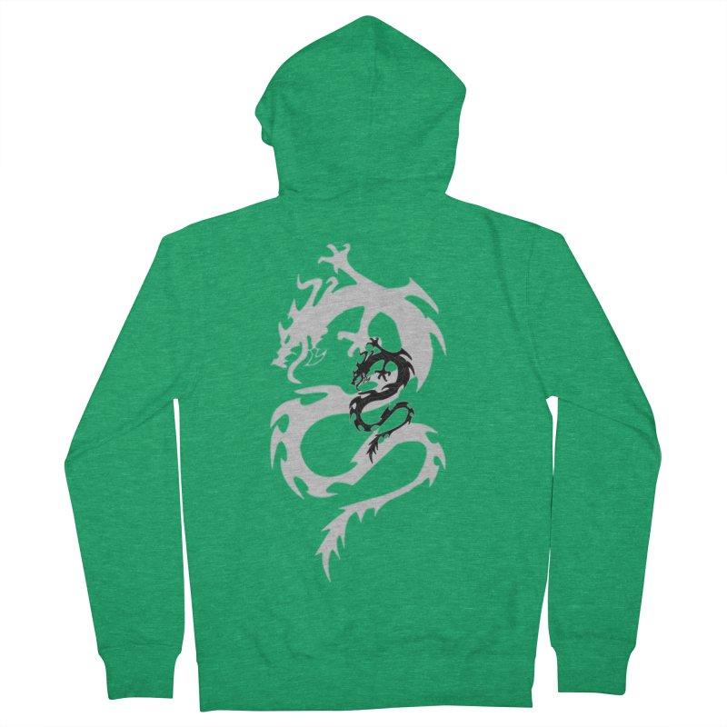 Double Dragon Men's Zip-Up Hoody by DesignsbyAnvilJames's Artist Shop