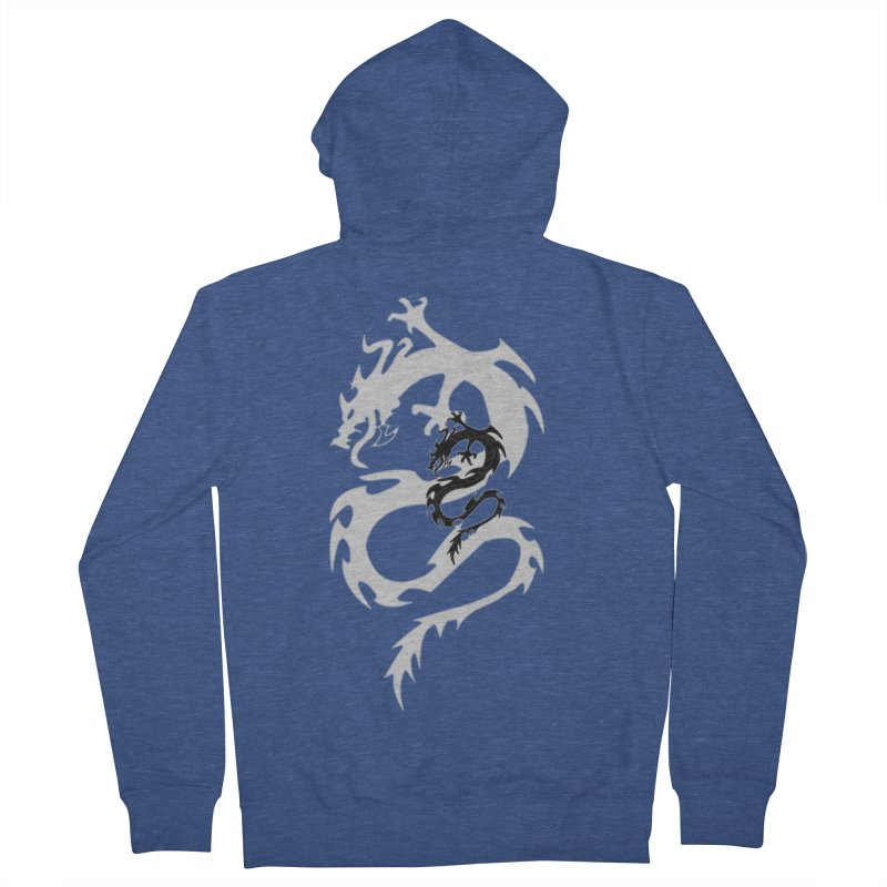 Double Dragon Men's French Terry Zip-Up Hoody by DesignsbyAnvilJames's Artist Shop