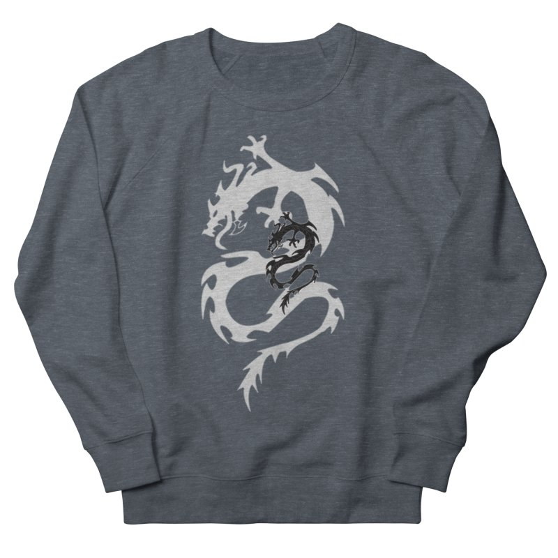 Double Dragon Men's French Terry Sweatshirt by DesignsbyAnvilJames's Artist Shop