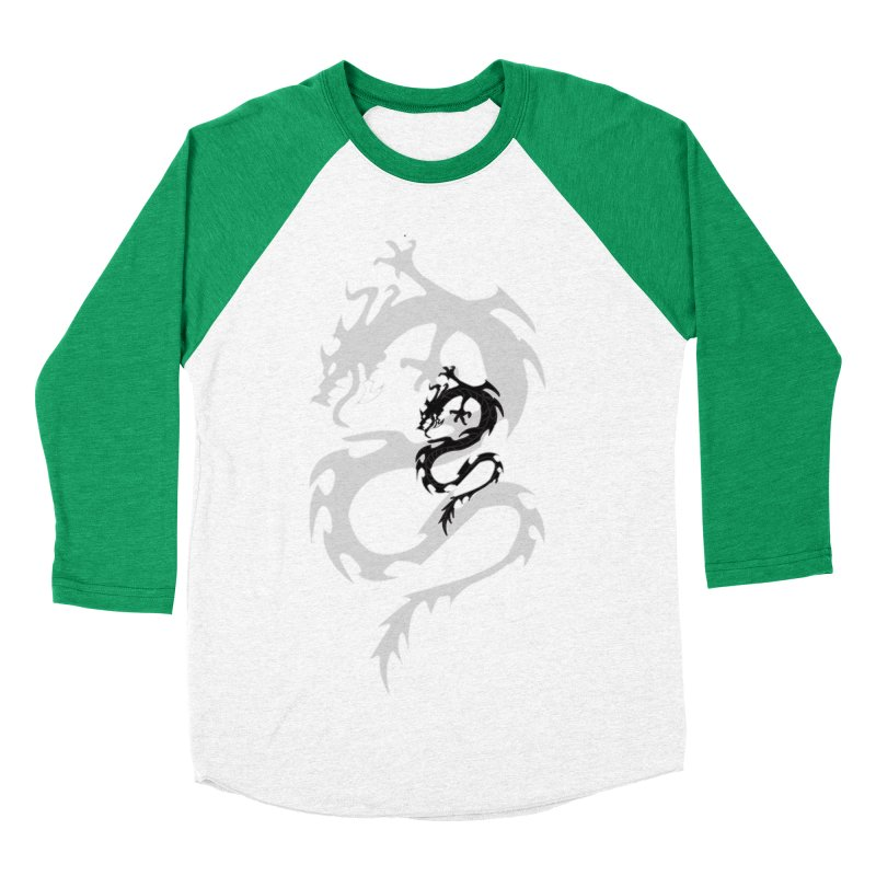 Double Dragon Women's Baseball Triblend Longsleeve T-Shirt by DesignsbyAnvilJames's Artist Shop
