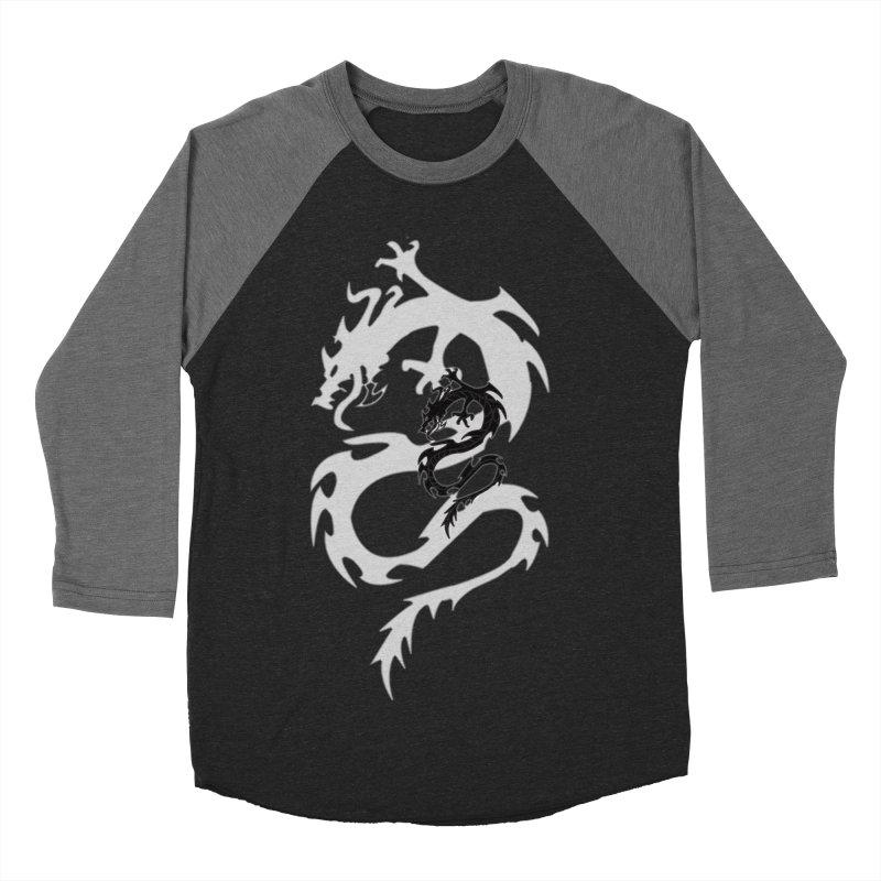 Double Dragon Women's Baseball Triblend Longsleeve T-Shirt by DesignsbyAnvilJames's Artist Shop