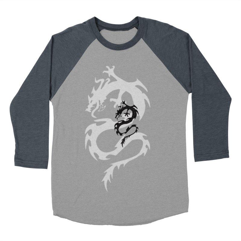 Double Dragon Men's Baseball Triblend Longsleeve T-Shirt by DesignsbyAnvilJames's Artist Shop