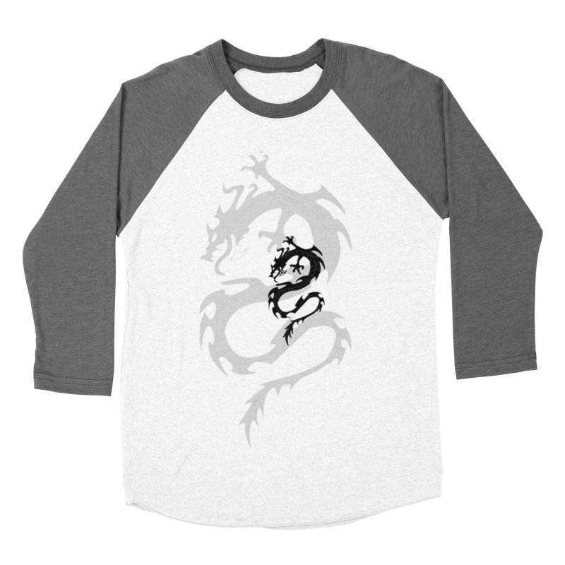 Double Dragon Men's Baseball Triblend Longsleeve T-Shirt by DesignsbyAnvilJames's Artist Shop