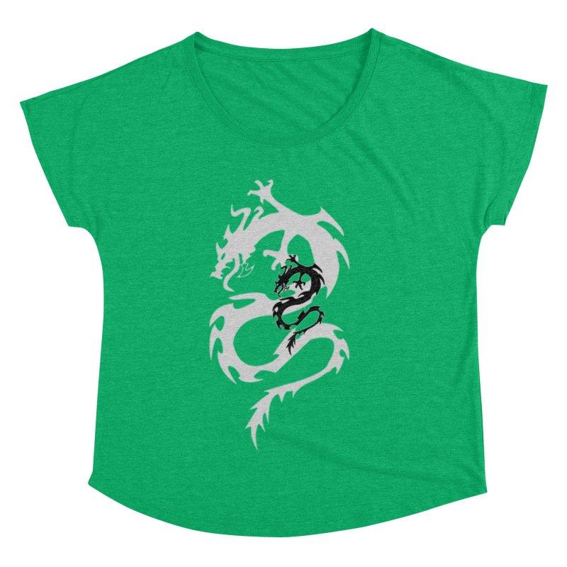 Double Dragon Women's Dolman Scoop Neck by DesignsbyAnvilJames's Artist Shop