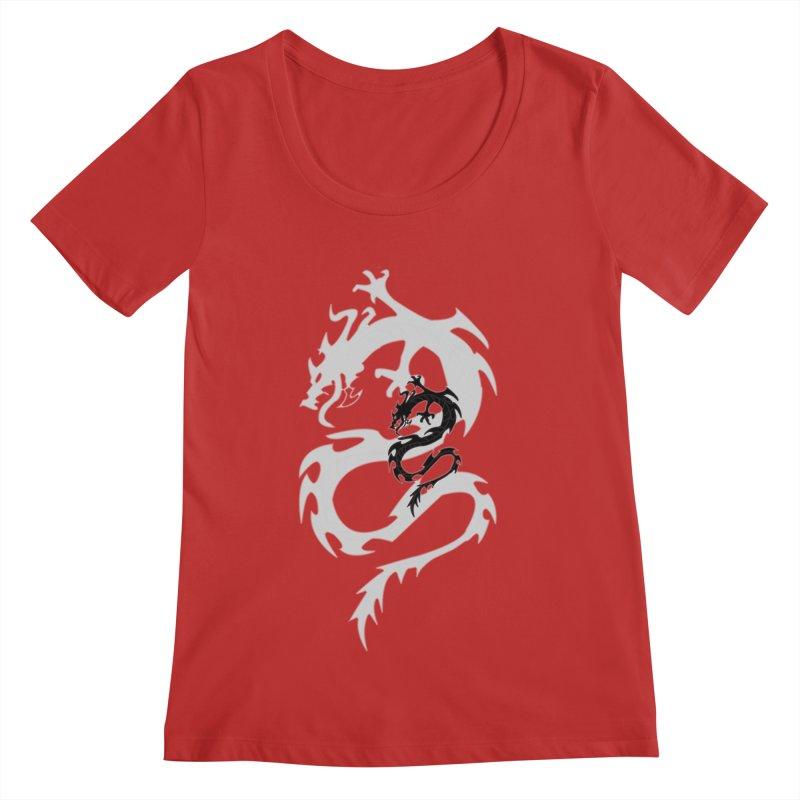 Double Dragon Women's Regular Scoop Neck by DesignsbyAnvilJames's Artist Shop